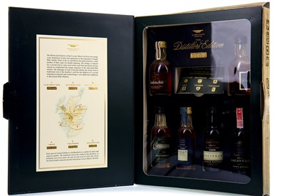 Lot 301-CLASSIC MALTS DISTILLERS EDITION MINIATURE PACK