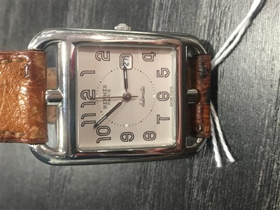 Lot 823-A GENTLEMAN'S HERMES AUTOMATIC STEEL WATCH