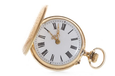 Lot 826 - A LADY'S 19TH CENTURY CONTINENTAL FOB WATCH