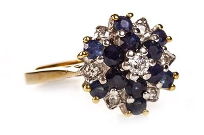 Lot 185 - A BLUE GEM SET AND DIAMOND RING