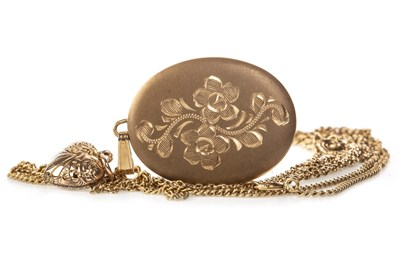 Lot 191 - TWO LOCKETS AND A CHAIN
