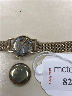 Lot 827-A LADY'S ZENITH GOLD WATCH AND ANOTHER