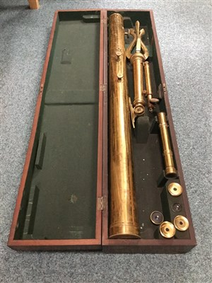 Lot 1427-A VICTORIAN BRASS TELESCOPE BY S. P. COHEN OF GLASGOW