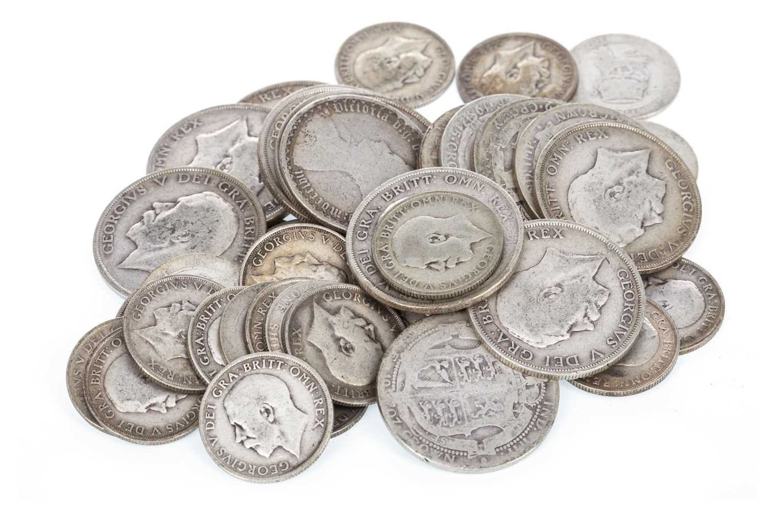 Lot 524-A QUANTITY OF SILVER AND OTHER COINS