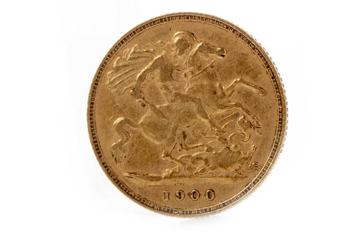 Lot 525-A GOLD HALF SOVEREIGN, 1900