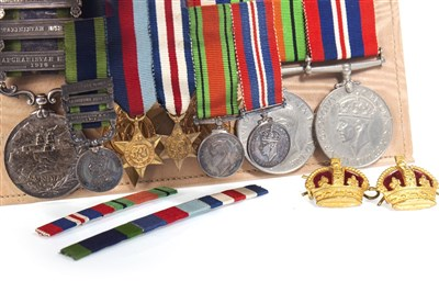 Lot 832-AN INDIA GENERAL SERVICE MEDAL 1909 AND OTHERS