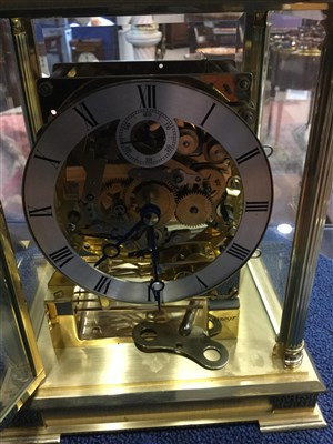 Lot 1402-A KIENINGER GILTMETAL MANTEL CLOCK