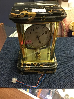 Lot 1403-AN EARLY 20TH CENTURY BULLE CLOCKETTE MANTEL CLOCK