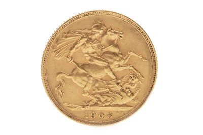 Lot 543-A GOLD SOVEREIGN, 1906