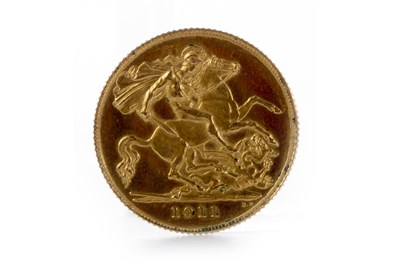 Lot 544-A GOLD HALF SOVEREIGN, 1911