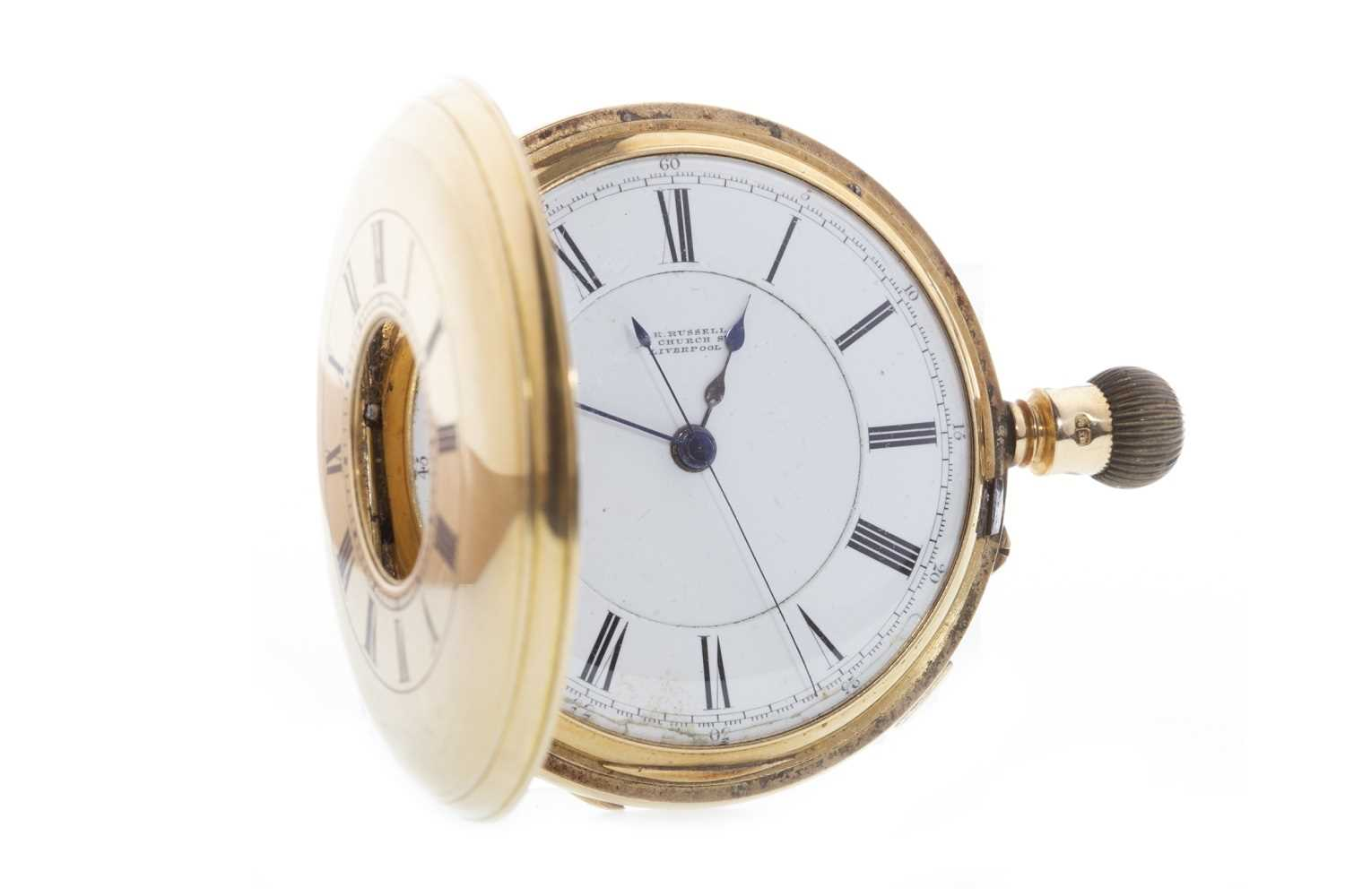 Lot 831-AN EIGHTEEN CARAT GOLD POCKET WATCH