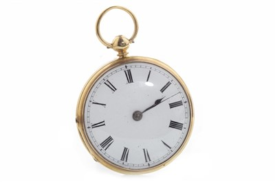 Lot 832 - A VICTORIAN EIGHTEEN CARAT GOLD POCKET WATCH