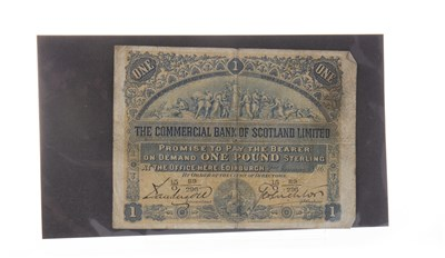 Lot 560-A THE COMMERCIAL BANK OF SCOTLAND LIMITED £1 NOTE 1896