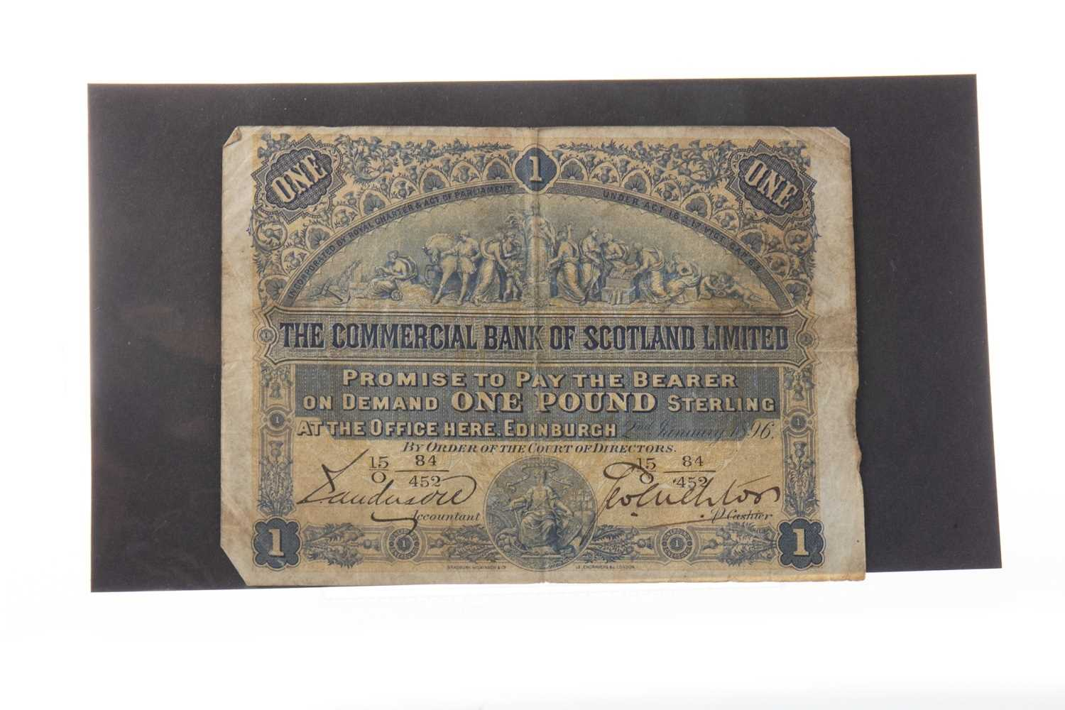 Lot 561 - A THE COMMERCIAL BANK OF SCOTLAND LIMITED £1 1896