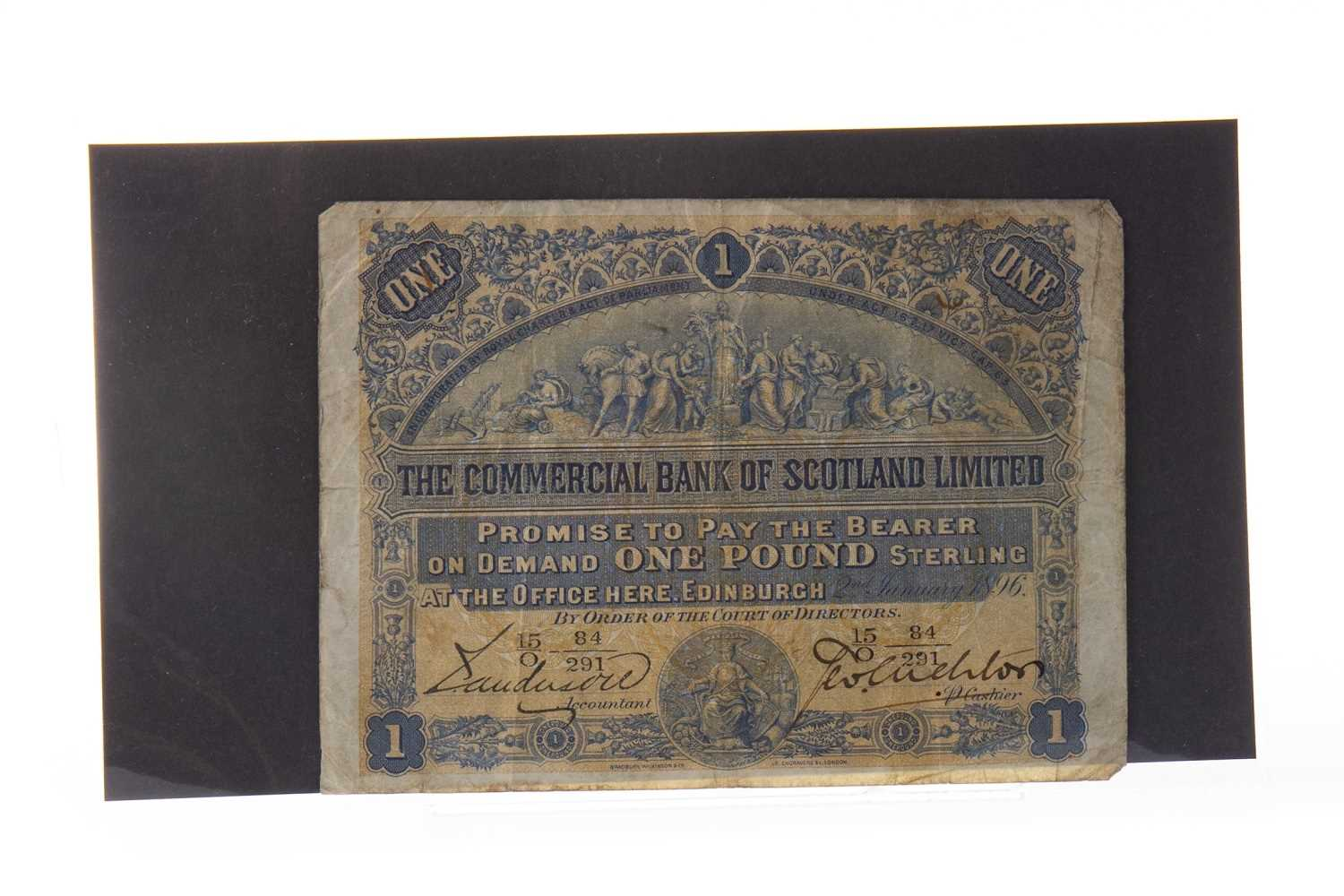 Lot 563-A THE COMMERCIAL BANK OF SCOTLAND £1 POUND NOTE, 1896