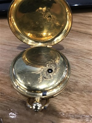 Lot 836-A VICTORIAN EIGHTEEN CARAT GOLD POCKET WATCH