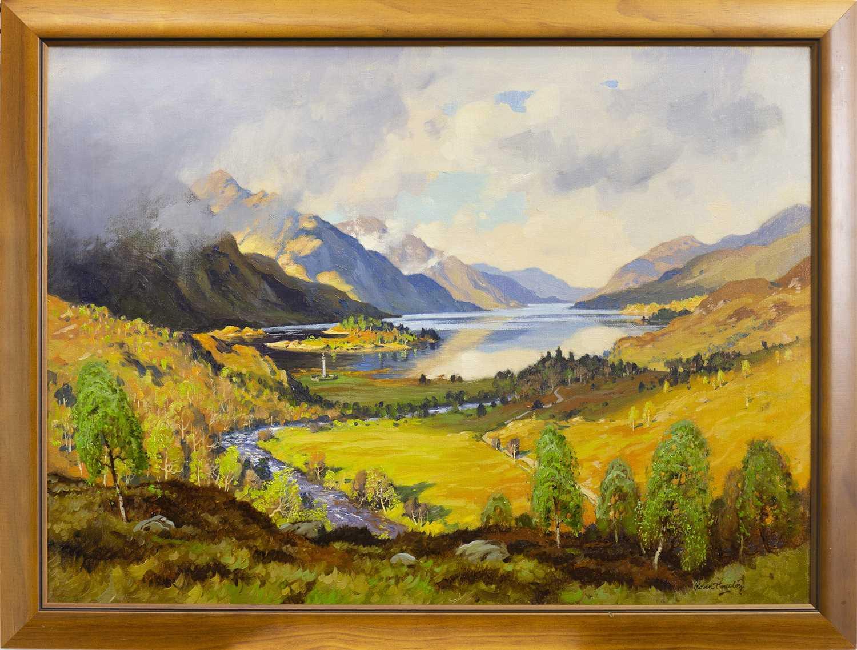 Lot 491-GLENFINNAN, AN OIL BY ROBERT HOUSTON