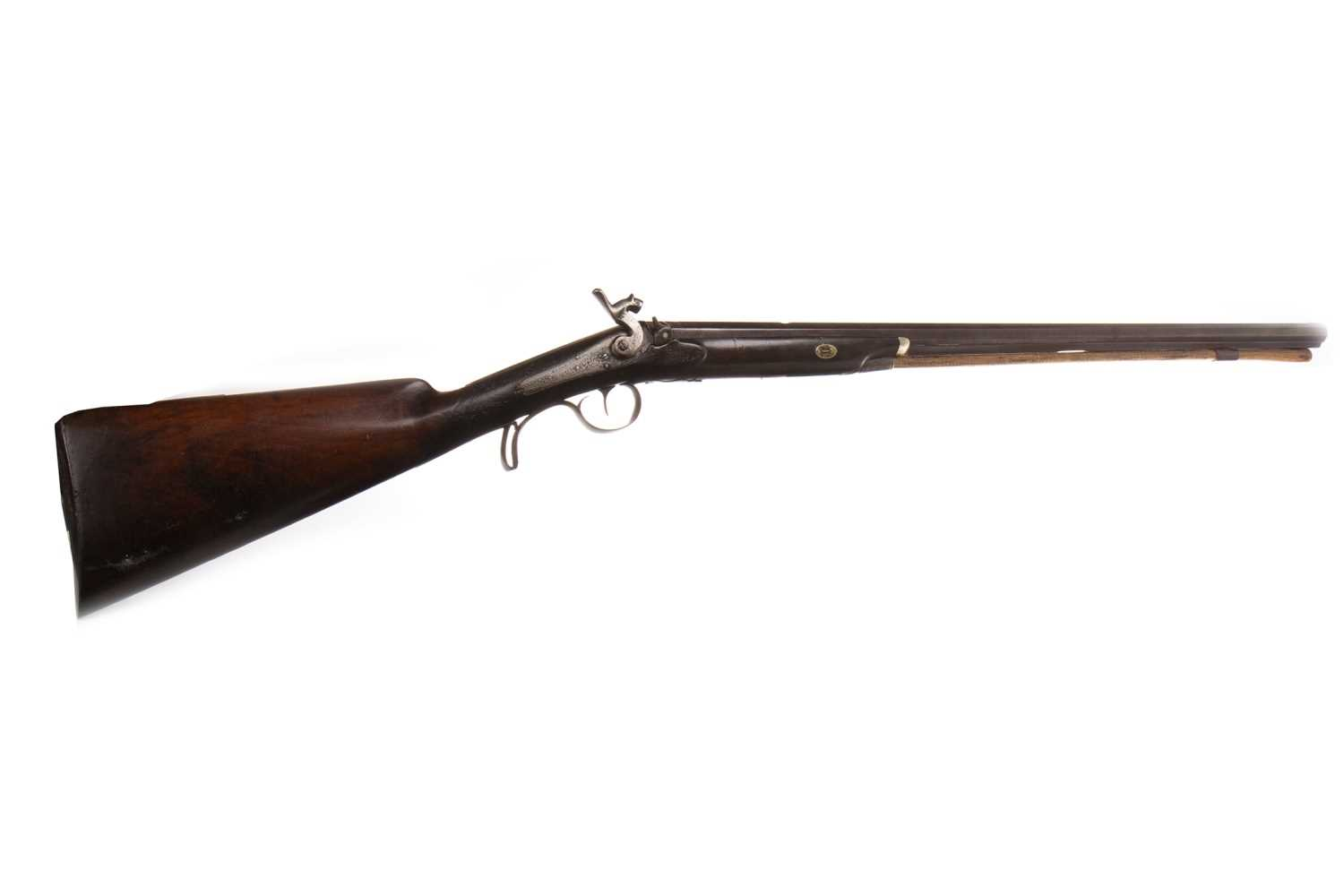 Lot 835-A 19TH CENTURY PERCUSSION MUSKET BY HENRY ELWELL
