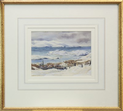 Lot 407-CUILLIN FROM BEALACH NAN COICHE, A WATERCOLOUR BY WILLIAM TAYLOR LONGMIRE