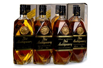 Lot 403-FOUR BOTTLES OF ANTIQUARY
