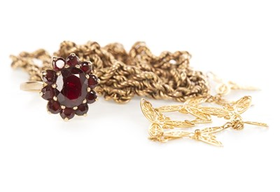 Lot 243 - TWO NECKLACES AND A RING