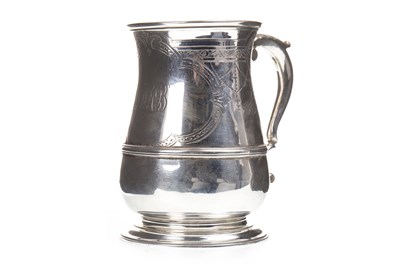 Lot 851-A GEORGE II SILVER TANKARD