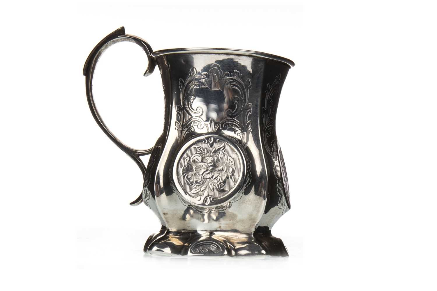 Lot 852-A VICTORIAN BALUSTER CHRISTENING MUG