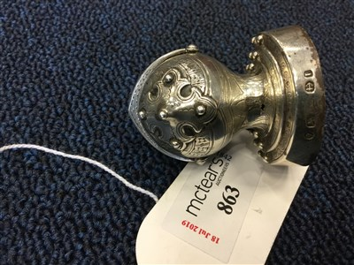 Lot 863-A VICTORIAN SILVER NOVELTY PEPPERETTE