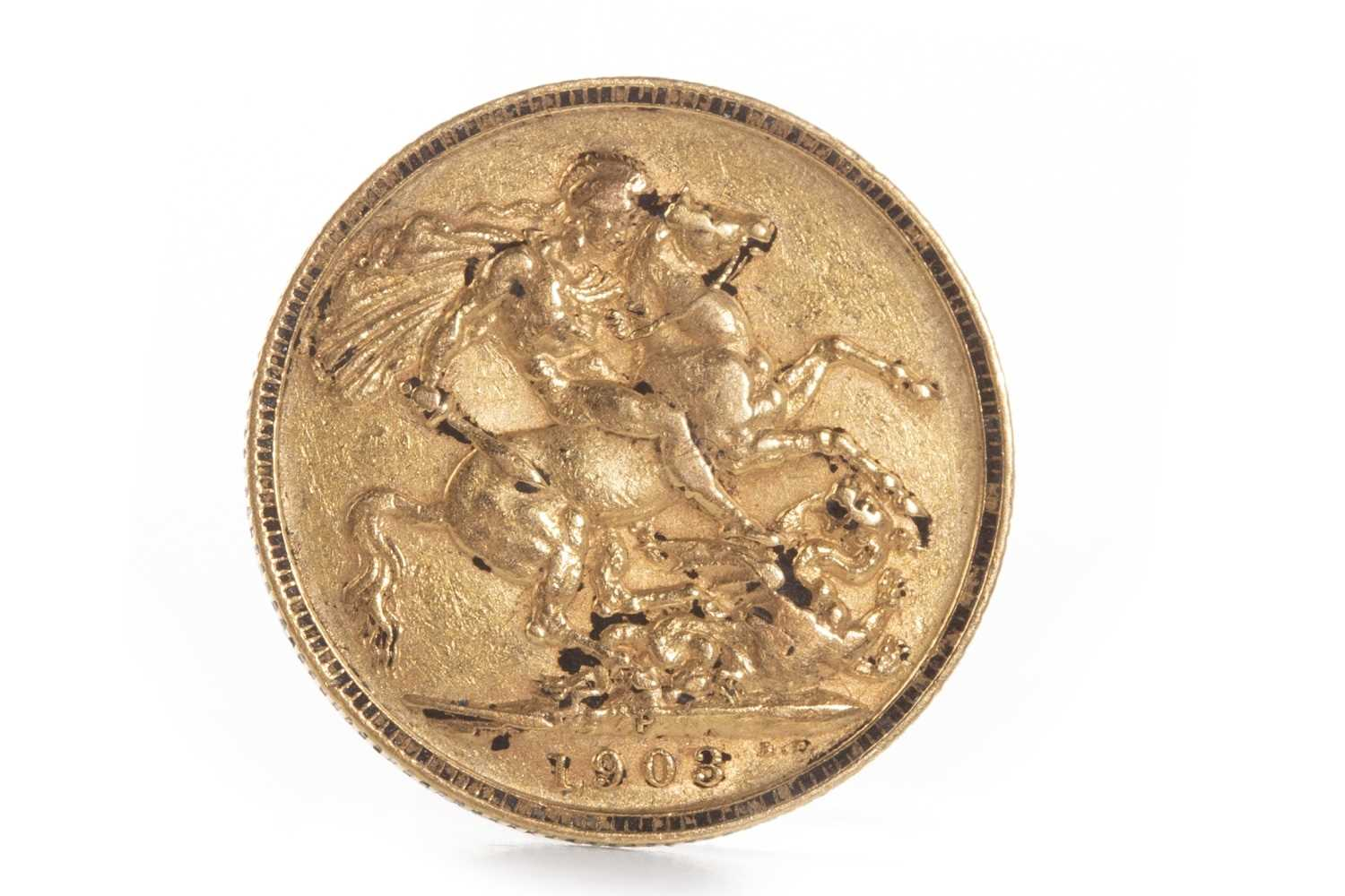 Lot 551 - A GOLD SOVEREIGN, 1903
