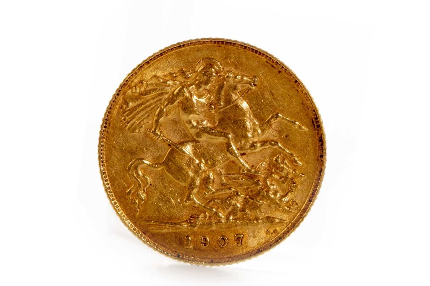 Lot 549-A GOLD HALF SOVEREIGN, 1907