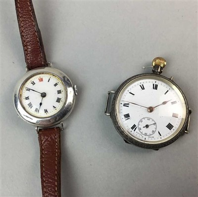 Lot 35-A SILVER FOB WATCH AND THREE OTHER WATCHES