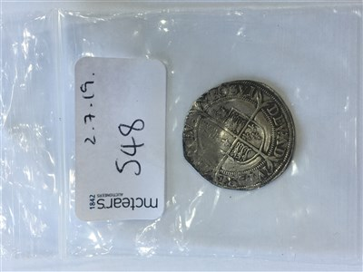 Lot 548-AN ELIZABETH I SILVER HAMMERED SIXPENCE