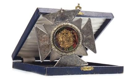 Lot 1601-A VICTORIAN SILVER MASONIC PRESENTATION MEDAL