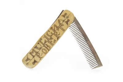 Lot 873-A MID 19TH CENTURY BEARD OR MOUSTACHE COMB