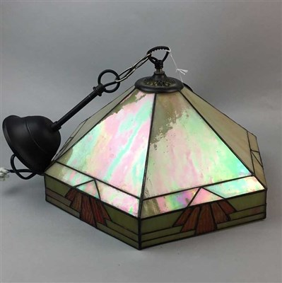 Lot 28-A LEAD GLASS CEILING SHADE