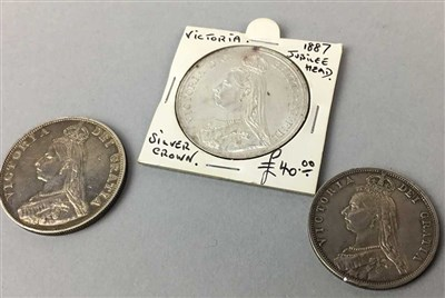 Lot 25-A 1887 VICTORIA CROWN AND TWO OTHER COINS