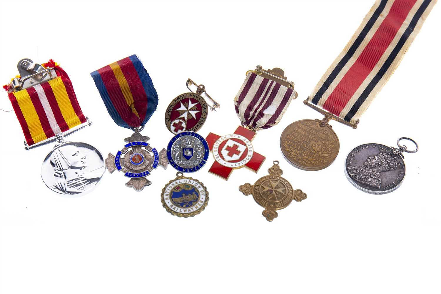 Lot 1606-A NATIONAL FIRE BRIGADES ASSOCIATION TEN YEARS MEDAL WITH OTHERS