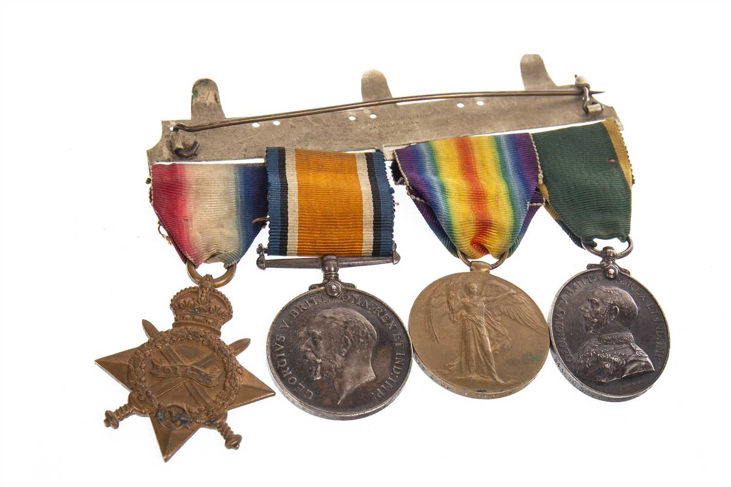 Lot 1607-A WWI MEDAL GROUP AWARDED TO E. PEARCE R.E.