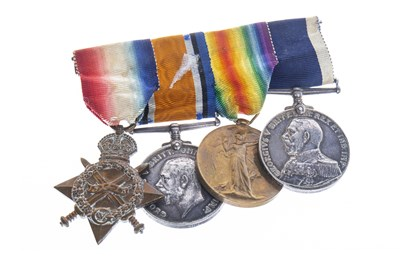 Lot 1608-A WWI MEDAL GROUP AWARDED TO C.W. GAMMON A.B, R.N.