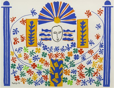 Lot 401-APOLLON, A LITHOGRAPH AFTER HENRI MATISSE