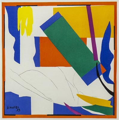 Lot 402-SOUVENIR D'OCEANIE, A LITHOGRAPH AFTER HENRI MATISSE