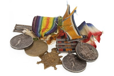 Lot 1614-A MEDAL GROUP AWARDED TO PTE J.T. LAWSON 1/E KENT R.