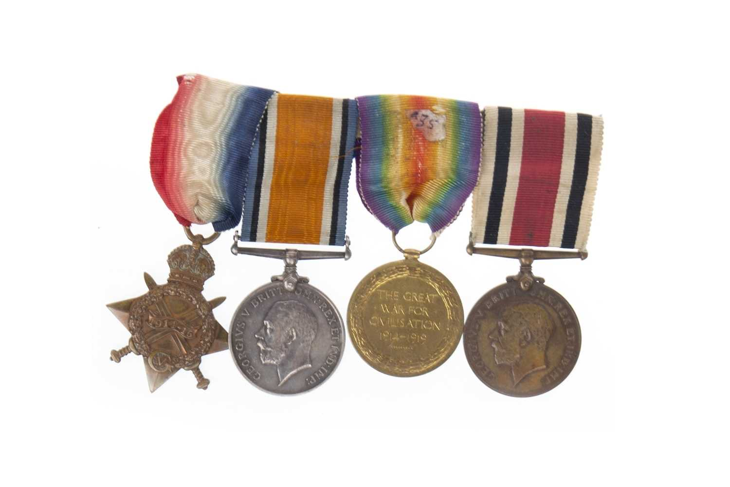 Lot 1616-A MEDAL GROUP AWARDED TO H. COLLETT
