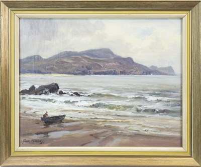 Lot 402-HORN HEAD FROM PORT-NA-BLAGH, AN OIL BY FRANK MCKELVEY