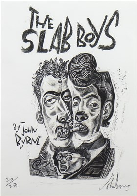 Lot 508-SLAB BOYS, A LITHOGRAPH BY JOHN BYRNE