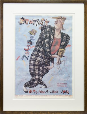 Lot 510-SCOTTISH SEASON, BBC RADIO 3 POSTER FEATURING JOHN BYRNE