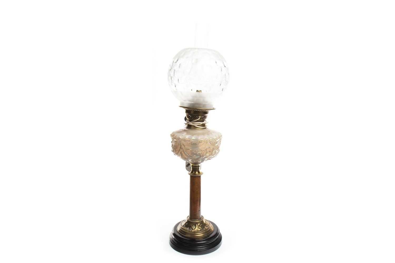 Lot 1619-A VICTORIAN OIL LAMP