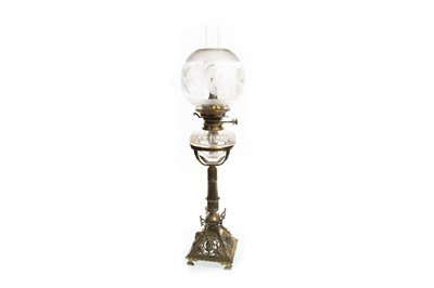 Lot 1620-A VICTORIAN OIL LAMP
