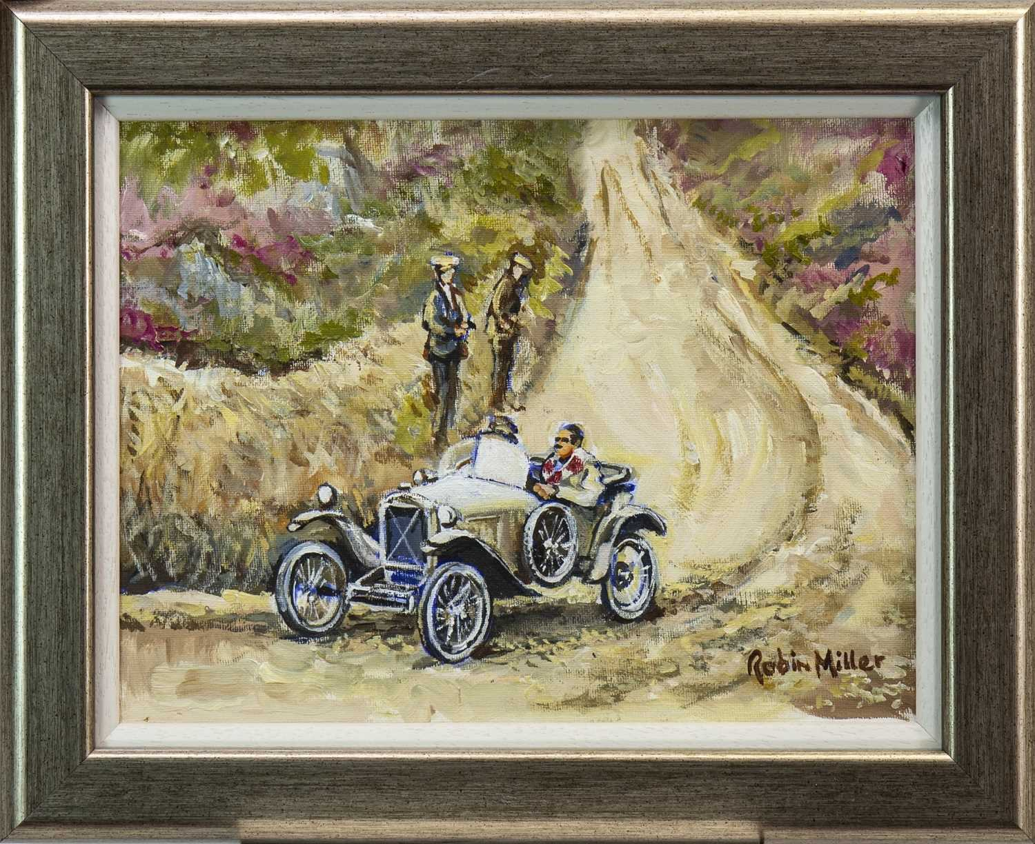 Lot 409-SUNDAY OUTING, AN OIL BY ROBIN MILLER