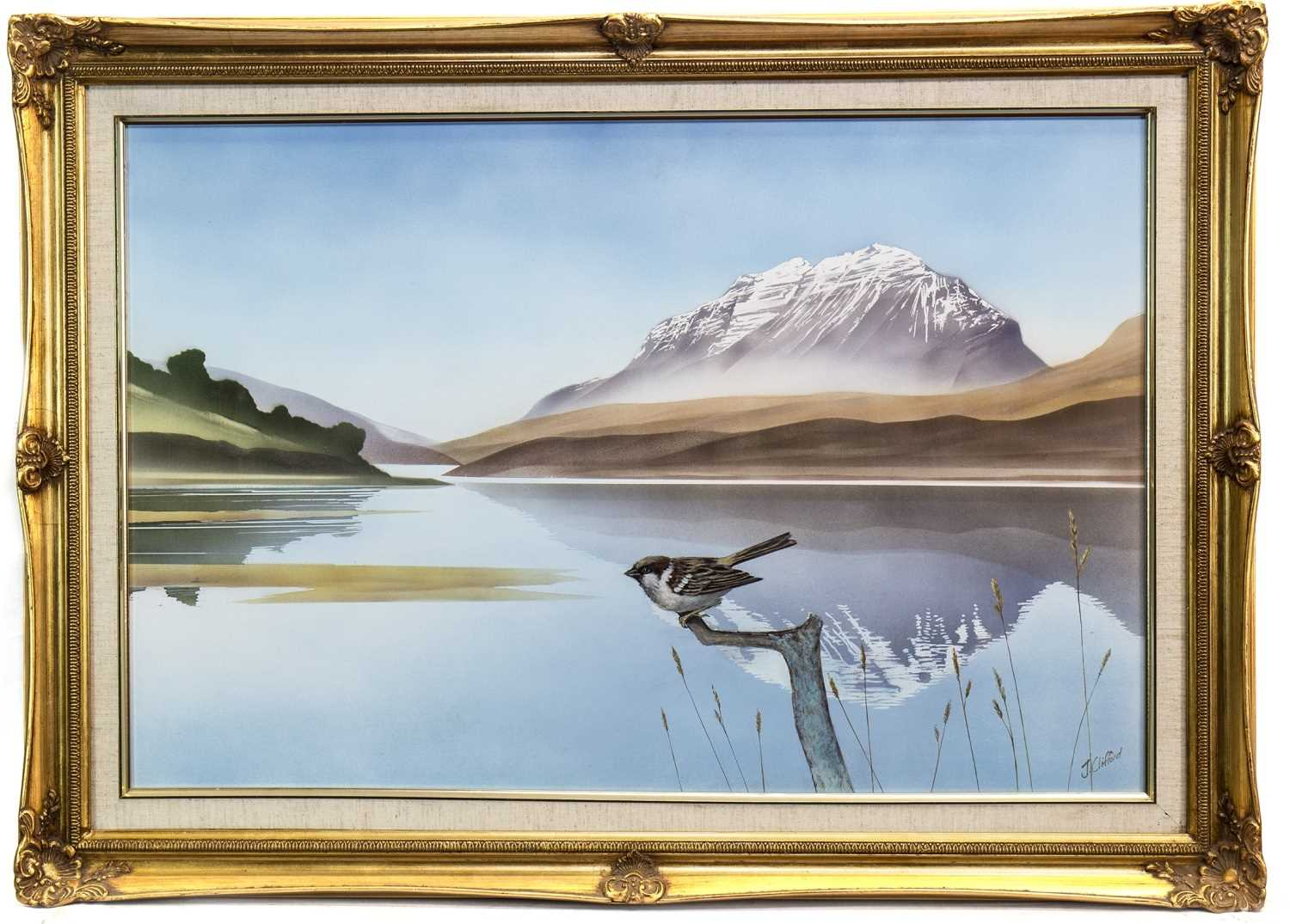 Lot 424-A PAIR OF LAKE SCENES BY JOHN CLIFFORD